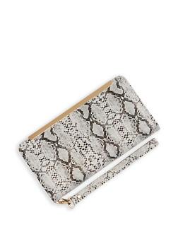 Animal Print Flap Wristlet - 3126067449030