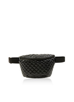 Faux Leather Quilted Fanny Pack - 3126067449096