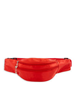 Satin Double Zip Fanny Pack | 3126067449097 - 3126067449097