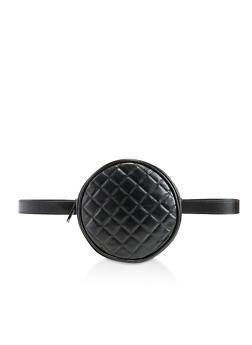 Round Quilted Belt Bag - 3126067449103