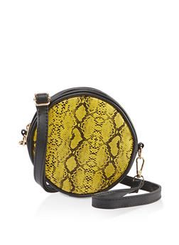 Snake Print Circle Crossbody Bag | 3126067449105 - 3126067449105