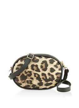 Leopard Oval Crossbody Bag - 3126067449108