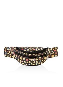 Emoji Double Zip Fanny Pack - 3126067449115
