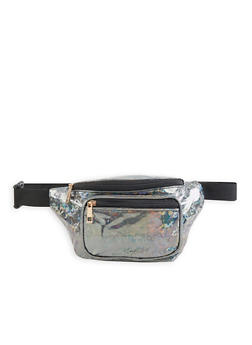 Holographic Double Zip Fanny Pack - 3126067449121