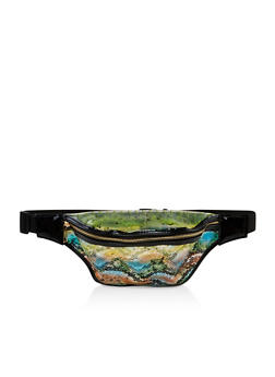 Clear Snake Print Fanny Pack - 3126067449126