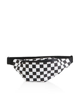 Checkered Single Zip Fanny Pack - 3126067449144