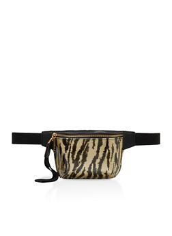 Animal Print Single Zip Fanny Pack - 3126067449145