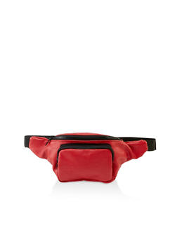 Pebbled Faux Leather Fanny Pack - 3126067449146