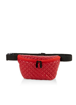 Quilted Double Zip Fanny Pack - 3126067449167