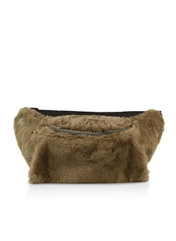 Faux Fur Muff Fanny Pack - 3126067449169