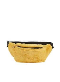 Faux Fur Single Zip Fanny Pack - 3126067449170