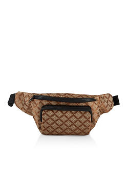 Printed Double Zip Fanny Pack - 3126067449173