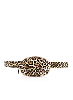 Quilted Animal Print Belt Bag - 3126067449191