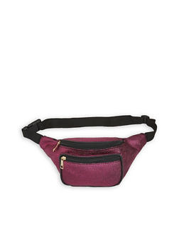 Pebbled Faux Leather Fanny Pack - FUCHSIA - 3126067449408