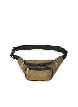 Pebbled Faux Leather Fanny Pack - 3126067449408