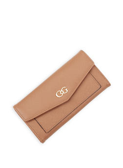 Faux Leather Flap Wallet - 3126071210301