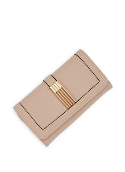 Pebbled Faux Leather Wallet - 3126071211028