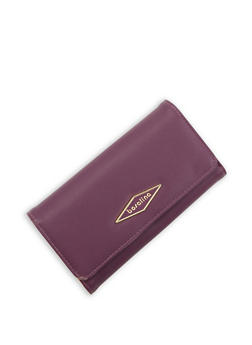 Faux Leather Fold Over Wallet - 3126071211033