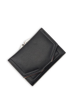 Small Faux Leather Flap Wallet - 3126071212002