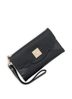 Faux Leather Tri Fold Wallet - 3126071219210