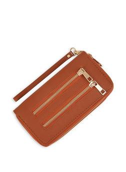 Textured Double Zip Wallet - Brown - 3126071756011