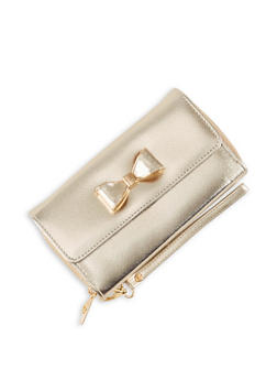Bow Flap Double Zip Wallet - 3126071756333