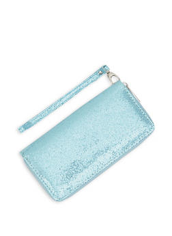 Glitter Zip Around Wallet - 3126071756866