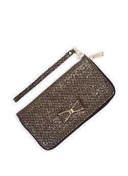Glitter Zip Wallet - 3126073401354