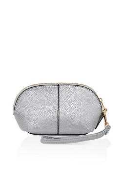 Faux Leather Wristlet - 3126073896560
