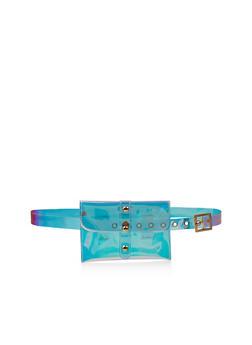 Slim Clear Iridescent Belt Bag - 3126073896799