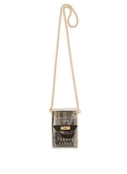 Souvenirs 1990 Summer Vibes Clear Crossbody Bag - 3126073897139
