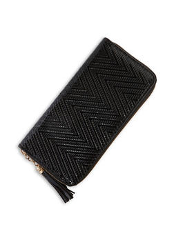 Chevron Faux Leather Wallet - 3126074391325