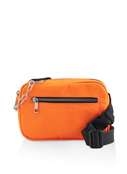 Chain Strap Detail Fanny Pack - 3126074391792