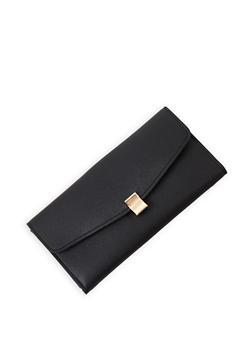 Faux Leather Tri Fold Wallet - 3126074391794