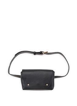 Faux Leather Belt Bag - 3126074391804