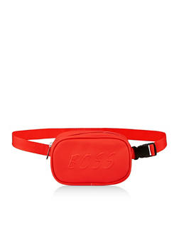 Embossed Boss Graphic Fanny Pack - 3126074391955