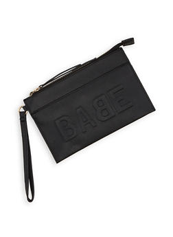 Embossed Babe Graphic Wristlet - 3126074391990