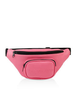 See You Soon Faux Leather Fanny Pack - 3126074391997