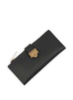 Metallic Flap Wallet - 3126074392064