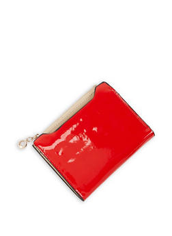 Faux Patent Leather Bifold Wallet - 3126074392808