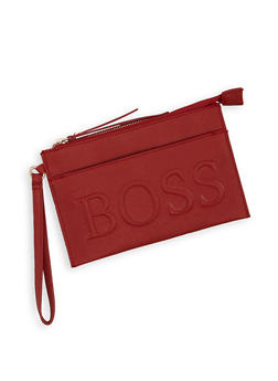 Boss Graphic Embossed Clutch - 3126074393998