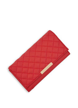 Quilted Kiss Lock Wallet - 3126074397444
