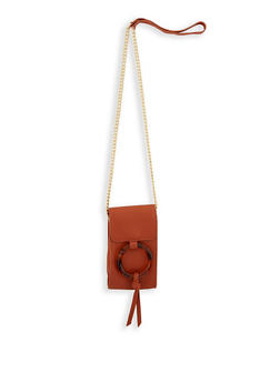 Tortoise Ring Detail Crossbody Bag - 3126074398555