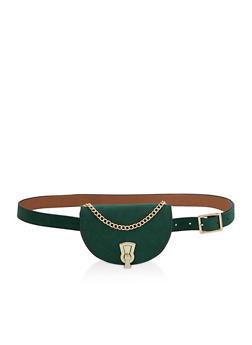 Faux Suede Mini Satchel Belt Bag - 3126074399950
