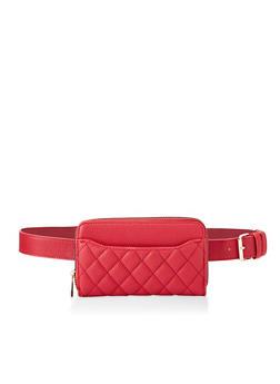 Quilted Wallet Belt Bag - 3126074399979