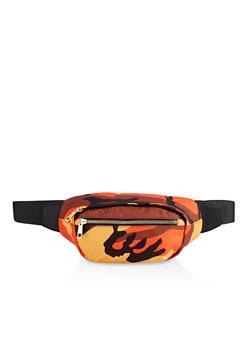 Camo Double Zip Fanny Pack - 3126075504253