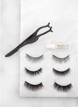 Set of 3 False Eyelashes - 3127072608012