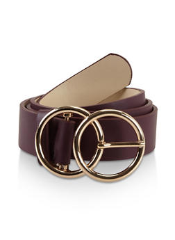 Plus Size Double Circle Buckle Belt - 3128061598100