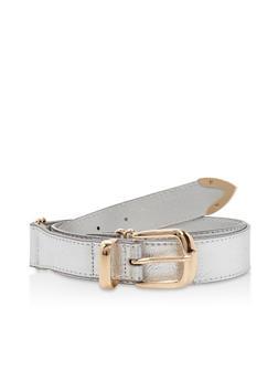 Plus Size Metallic Detail Belt - 3128073335111