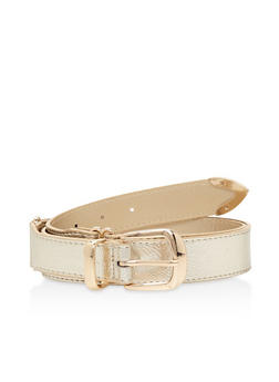 Plus Size Metallic Detail Belt - 3128073335111